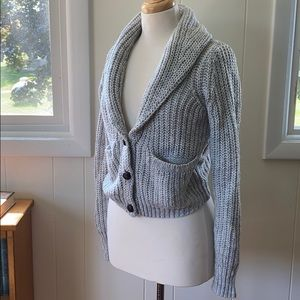 Mossimo Wool Blend Shawl Collar Cardigan Sweater